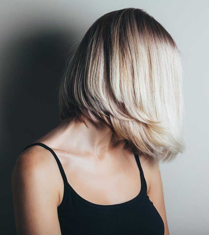 Shaggy-Haircut-Styles-2020-for-Women-Inverted Bob Haircut