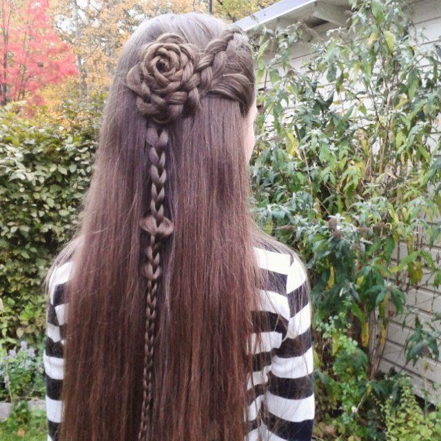 Rose Braid Hairstyles