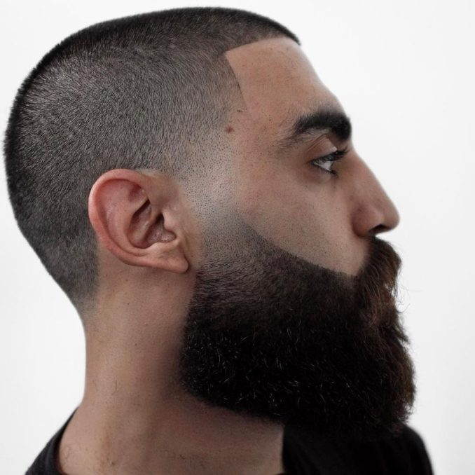 Cool Beard Styles-full beard styles-high beard styles-Buzz Cut with Beard Styles