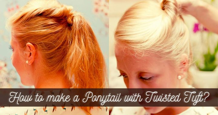 How to make a Ponytail with Twisted Tuft? (Steps)