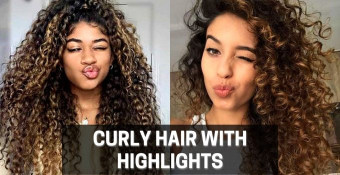 Curly hair with highlights
