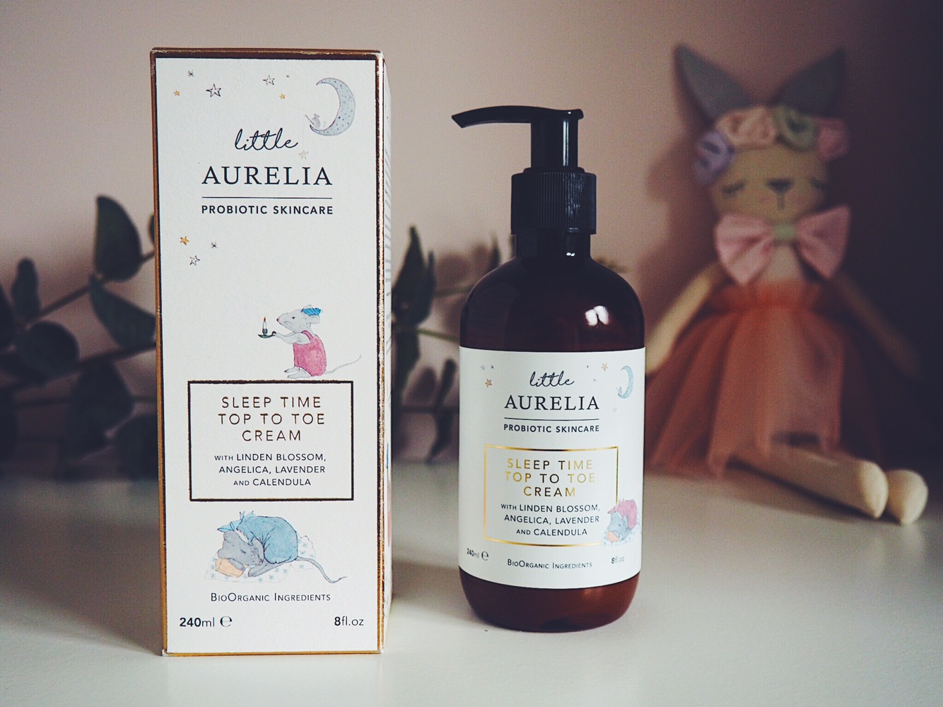 little aurelia top to toe cream in box and bunny
