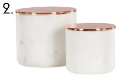 Marble Storage Pots