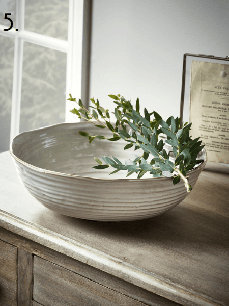 Cox and Cox White Fruit Bowl