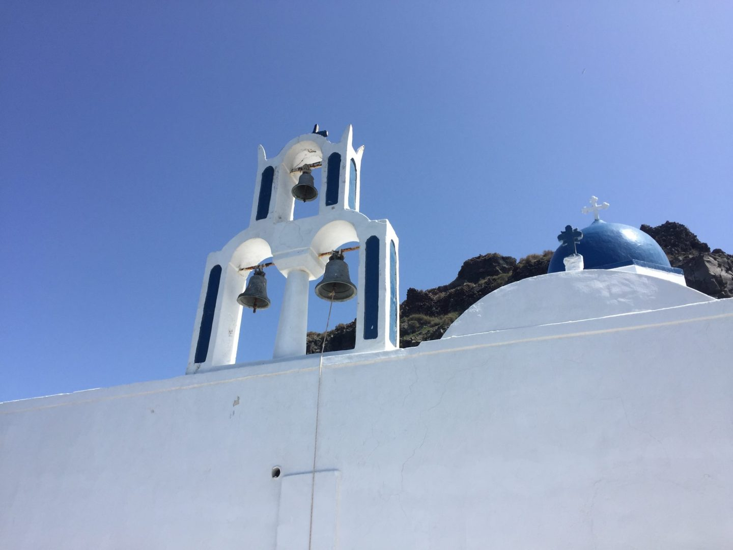 three bells of Fira Babymoon complete guide to Santorini