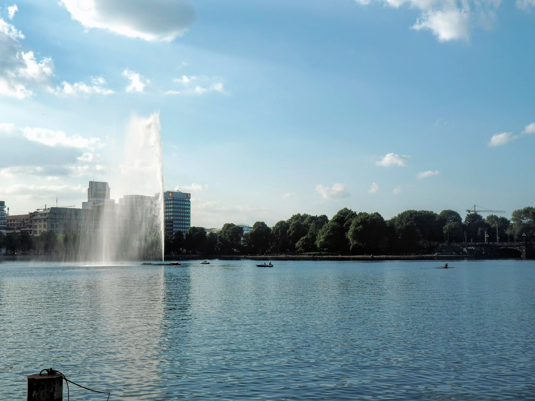 Binnenlaster lake on a sunny day | Hamburg with a toddler