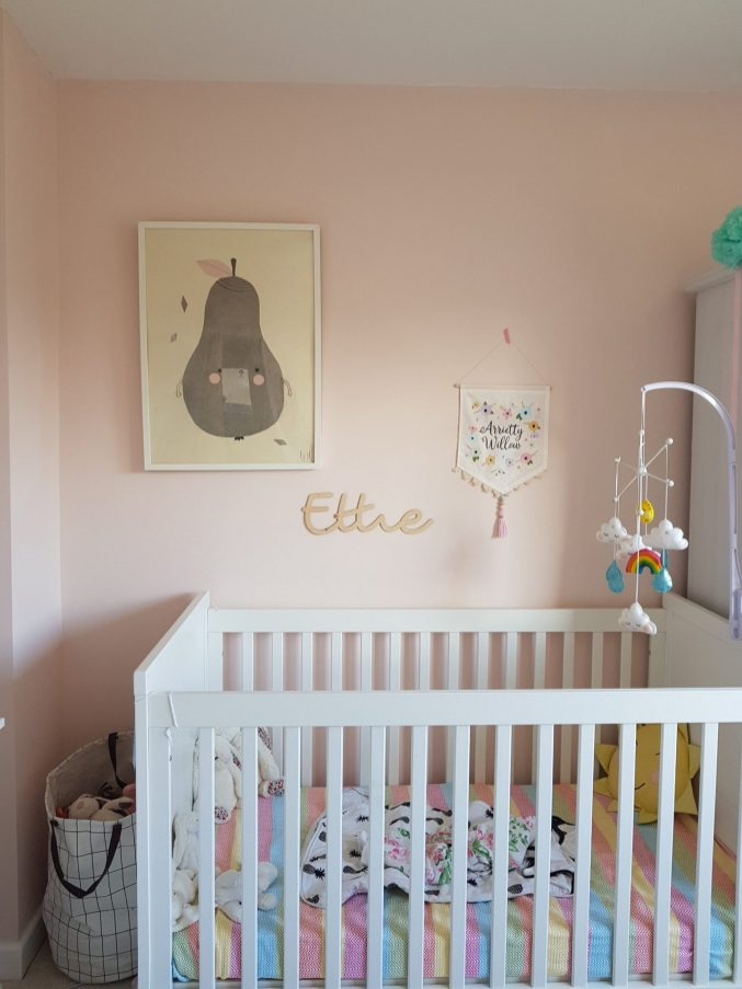 simple and stylish baby girls nursery The Halcyon Years