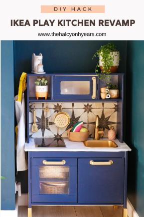 Ikea Play Kitchen revamp pinterest image