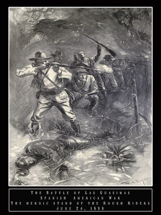 """Teddy Roosevelt """"Rough Riders"""" Poster"""