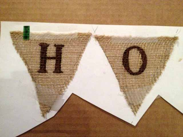DIY Burlap Pennant Banner - The Hamby Home