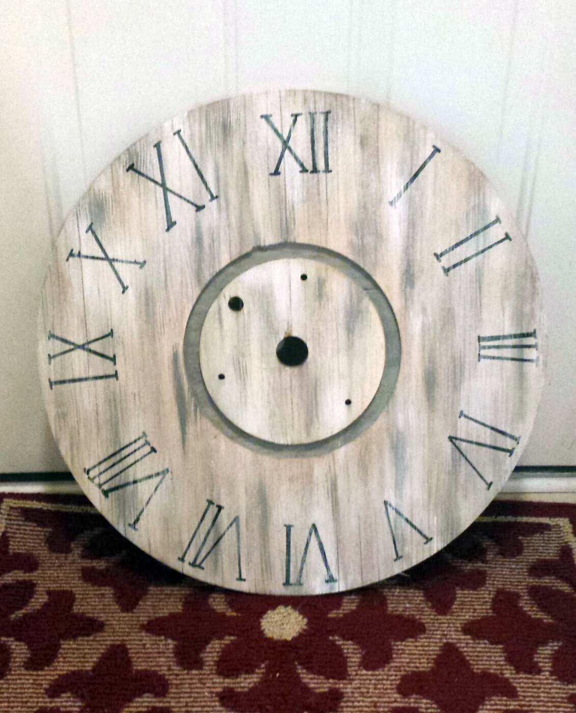 Another Diy Wooden Spool Clock The Hamby Home