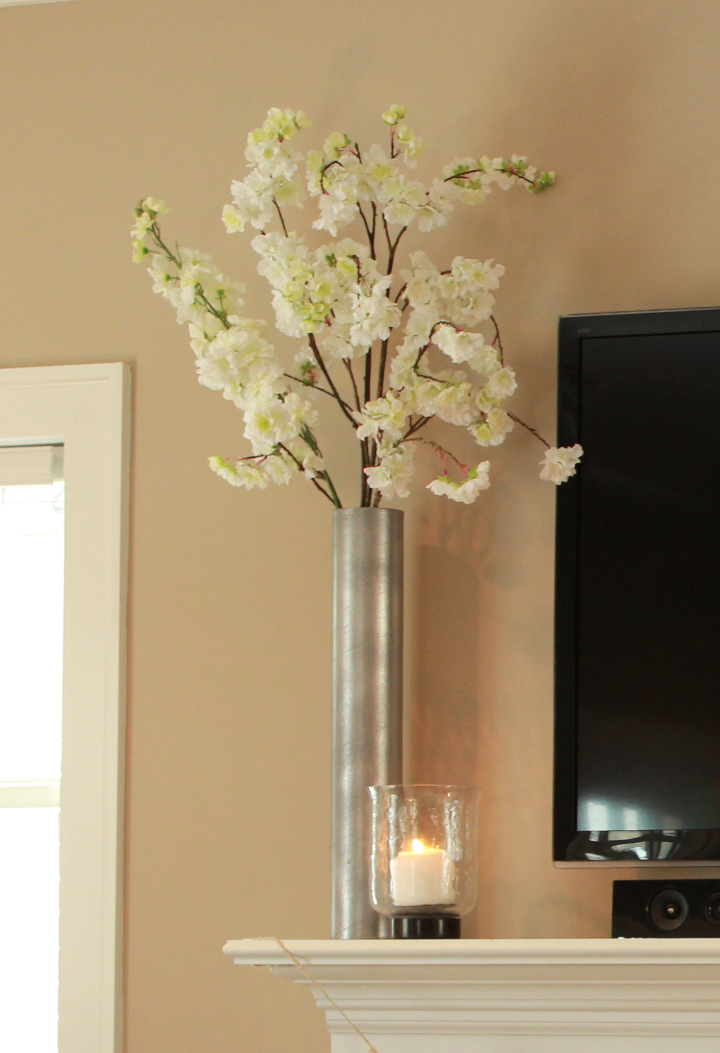 DIY Shipping Tube to Galvanized Vase - The Hamby Home