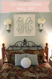 DIY Beadboard Monogram Wall Art - The Hamby Home