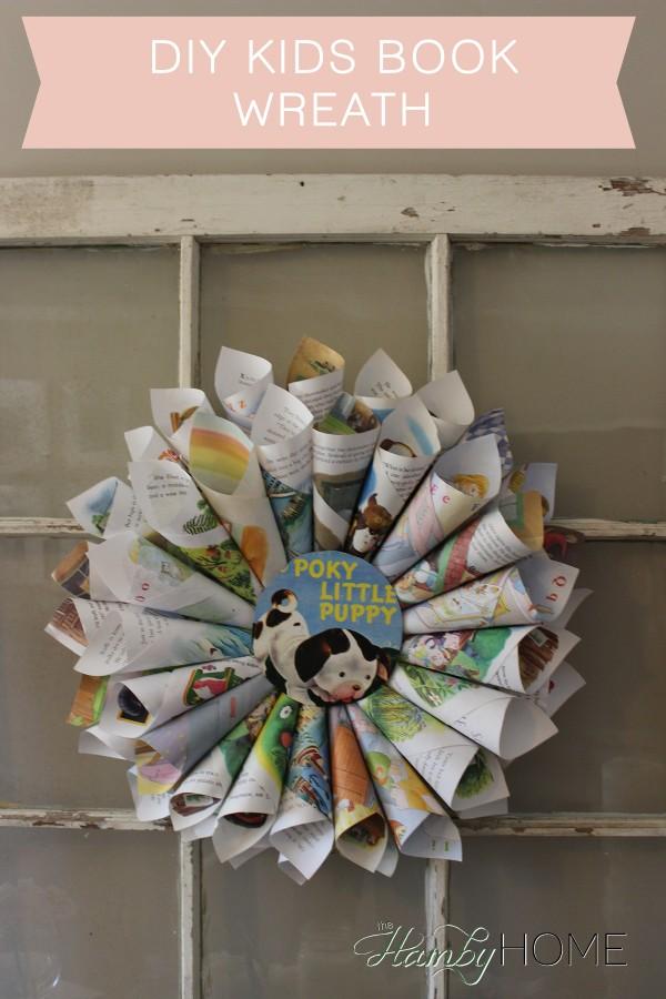 Diy Kids Book Wreath The Hamby Home