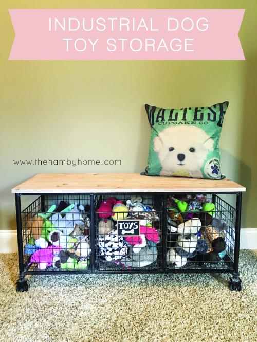 Industrial Dog Toy Storage