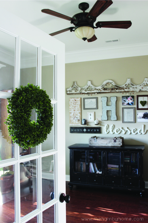 How To Hang Wreaths On Your French Doors The Hamby Home