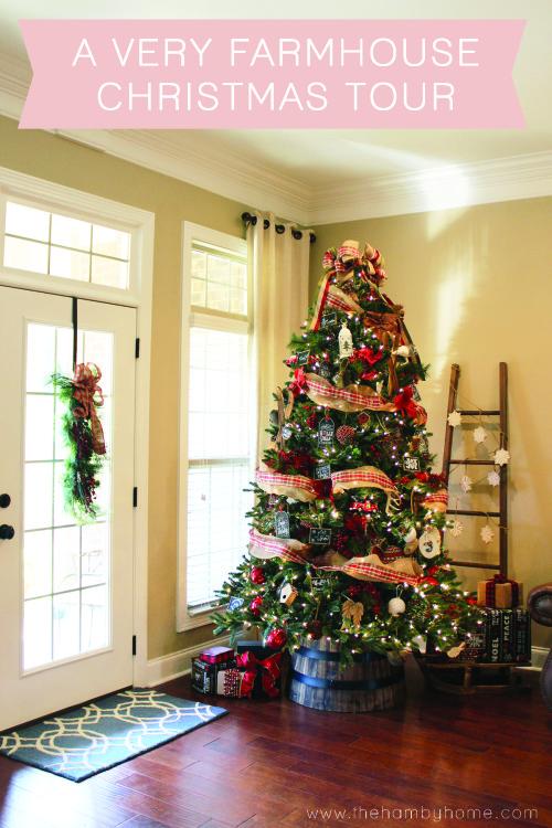 A Very Farmhouse Christmas Living Room Tour The Hamby Home