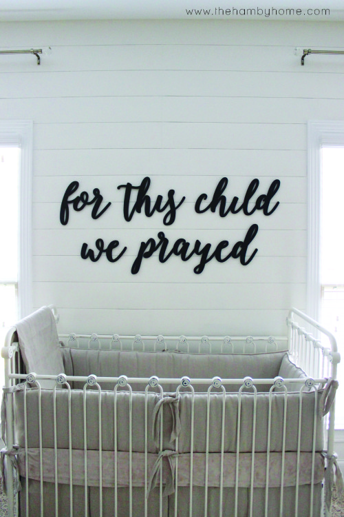 Nursery Wall Quote and Tips to Hang it3