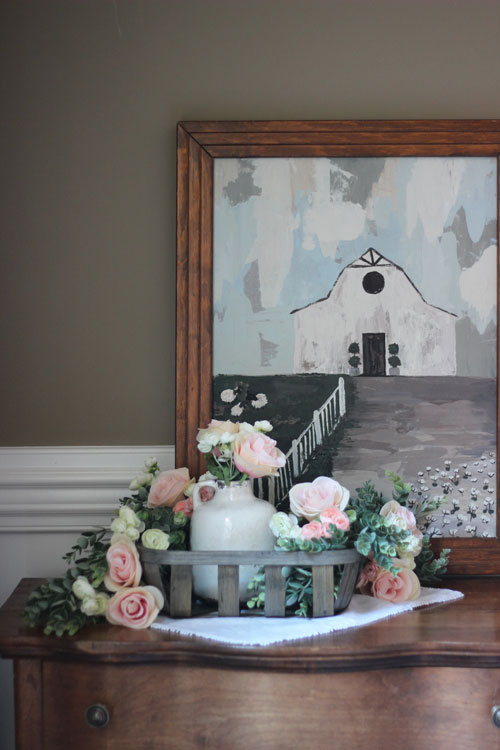 Floral Styled Tobacco Basket With Hobby Lobby The Hamby Home