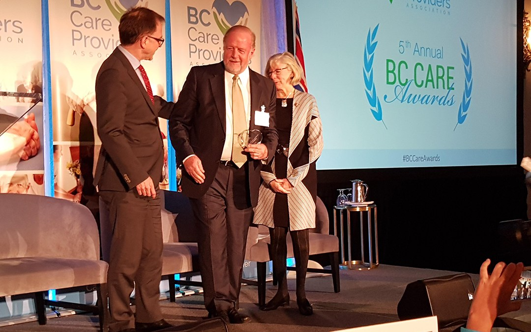 Our founder was honoured with the Long-Standing Excellence Award at the BC Care Awards!
