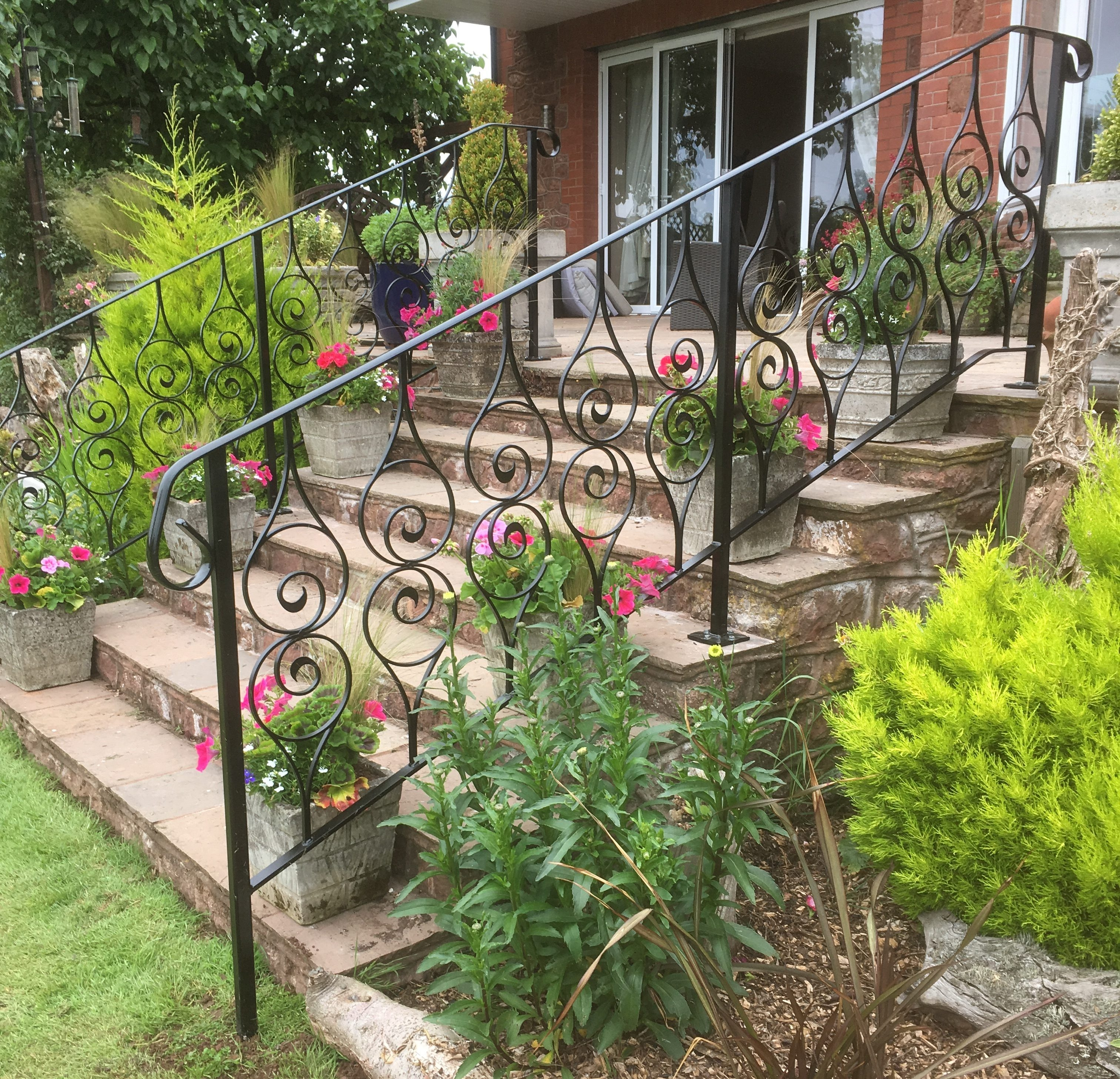 The Handrail People Supplying And Installing Outdoor Handrails   Wooden Handrail For Garden Steps   Stone Step   Free Standing   Metal   Wrought Iron   Front Door Step