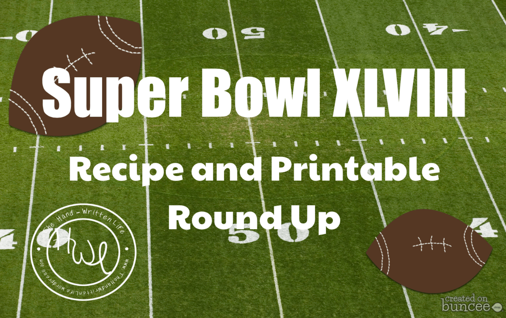 Super Bowl Xlviii Recipe And Printable Round Up