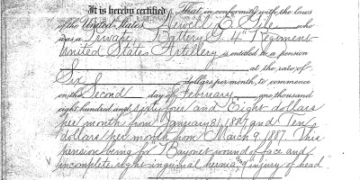 Pension Certificate for Newell E. Gile