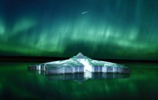 El hotel flotante en forma de copo de nieve