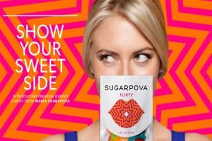 Maria Sharapova presenta su línea de dulces Sugarpova