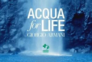 Giorgio Armani regalará agua a quien más lo necesita
