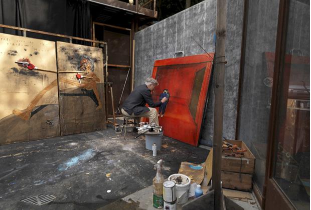 10 famosos artistas en su estudio creativo - Studio-David-Lynch