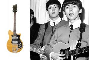 ¿Cuánto pagarían por una guitarra que tocó George Harrison?