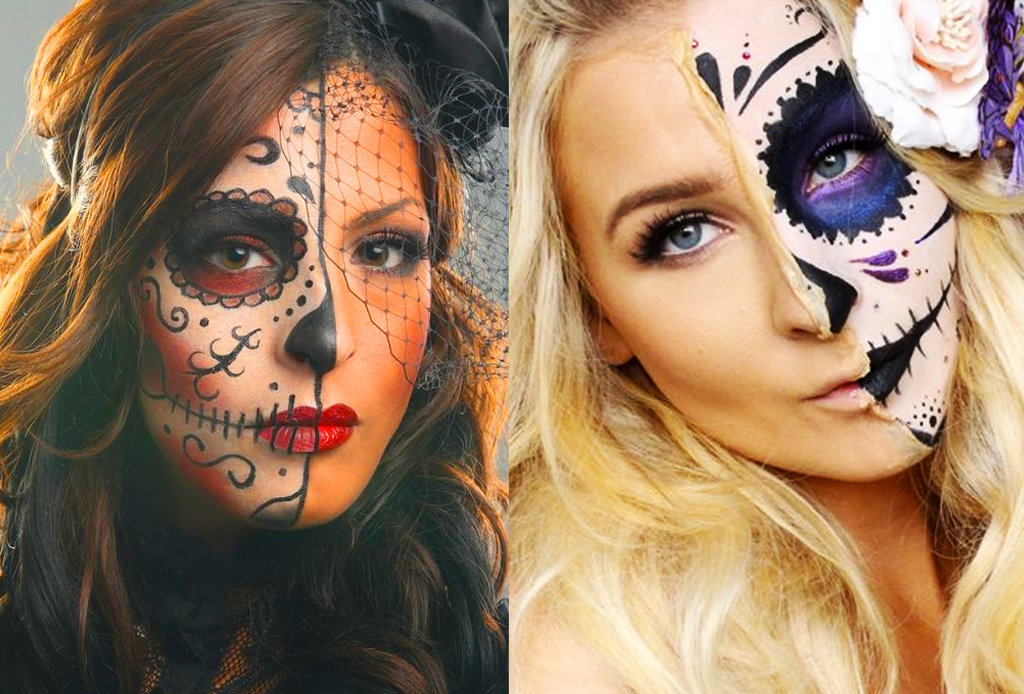 Los mejores make-ups de CATRINA - catrina-mitad-de-la-cara1