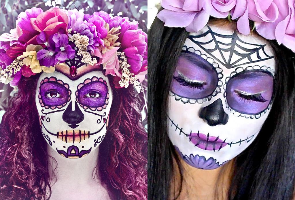 Los mejores make-ups de CATRINA - maquillaje-catrina-tonos-morados