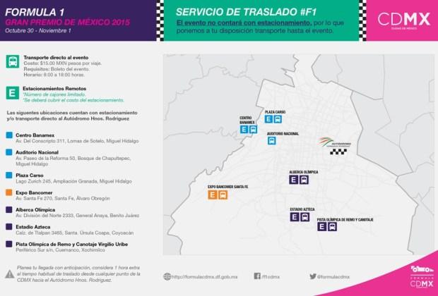 Todo lo que debes saber de la Fórmula 1 Gran Premio de México - transporte-f1-2-1024x694