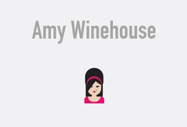Así se verían tus músicos favoritos si fueran emojis - amy-winehouse-1024x694