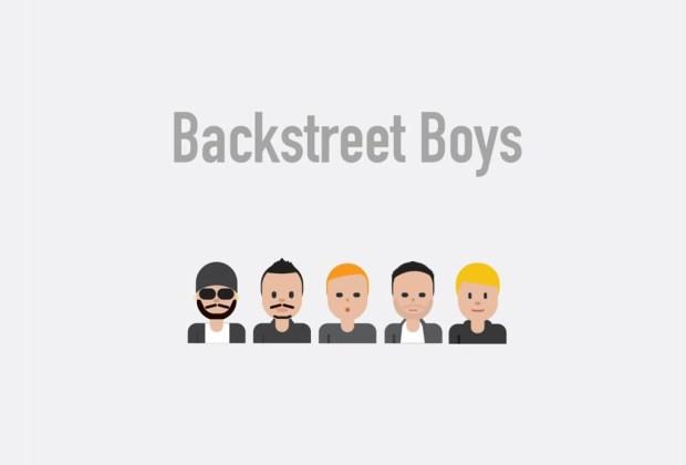 Así se verían tus músicos favoritos si fueran emojis - backstreet-boys-1024x694