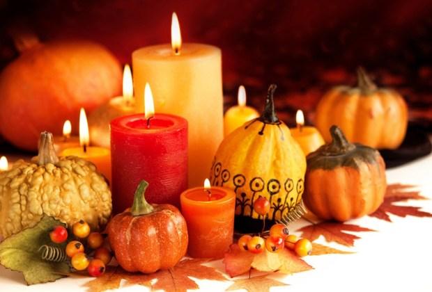 5 tips de decoración para una cálida cena de Thanksgiving - velas-1024x694