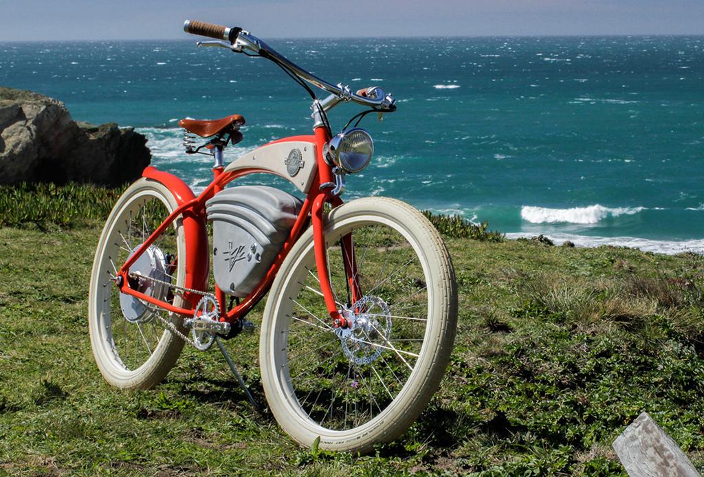 La motocicleta que parece bici vintage