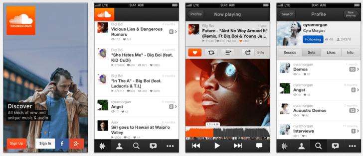 Las 8 mejores apps para descubrir música - soundcloud-app