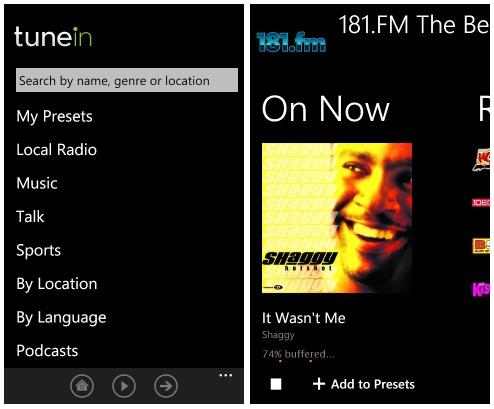 Las 8 mejores apps para descubrir música - tunein-radio-app