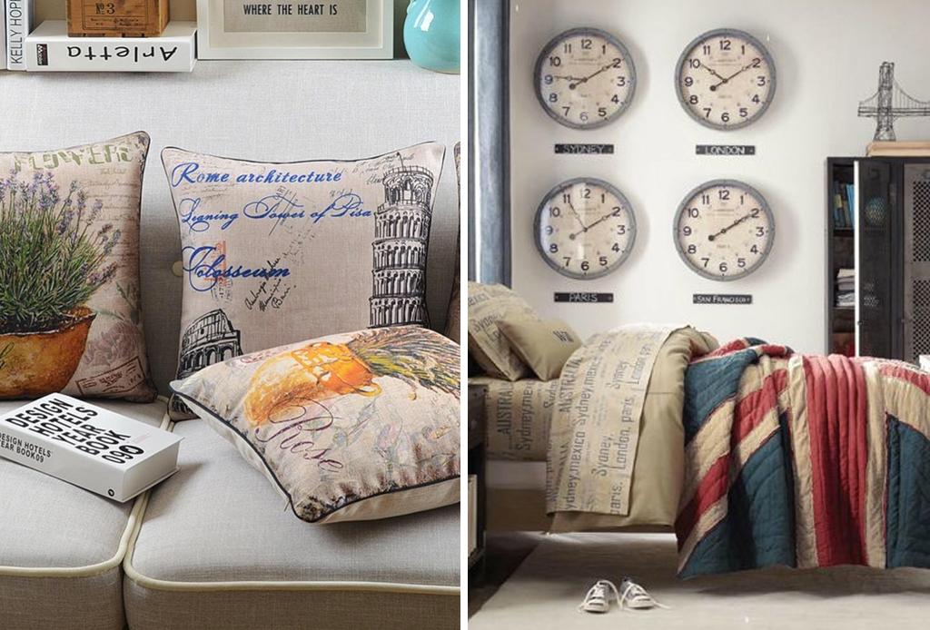 Plasma tu espíritu viajero en la decoración de tu hogar - cojines