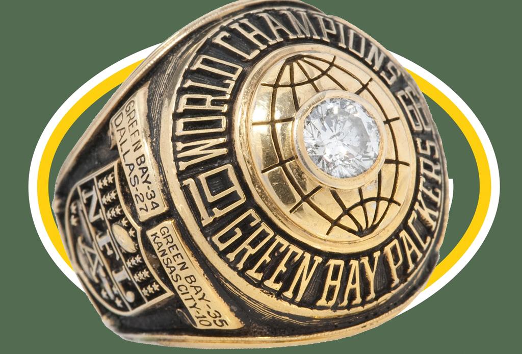 Los 5 anillos del Super Bowl más costosos de la historia - green-bay-1966