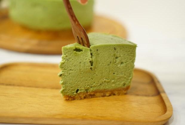 Disfruta todo el sabor de un pie de queso de té matcha - pie-de-queso-matcha-1024x694