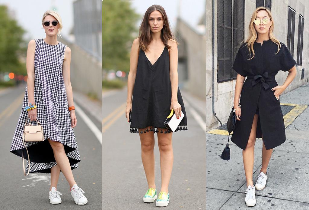5 formas de usar sneakers con cualquier outfit - con-vestido