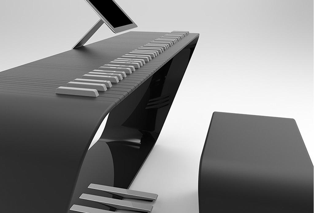Porsche dise un exclusivo y original piano - Porche diseno ...