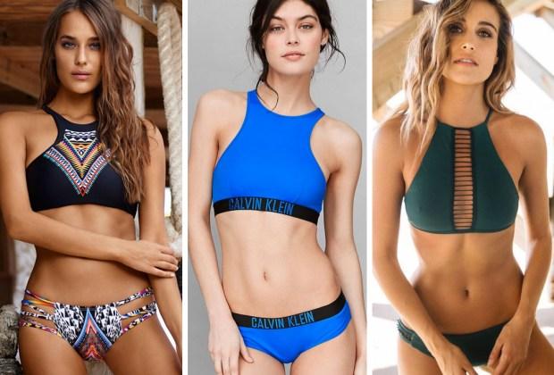 7 tendencias de trajes de baño para este verano - halter-tops-swim-1024x694
