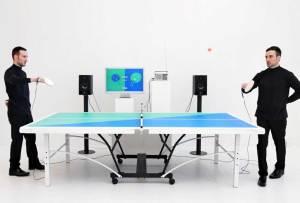 Una mesa de ping-pong que hace remixes musicales