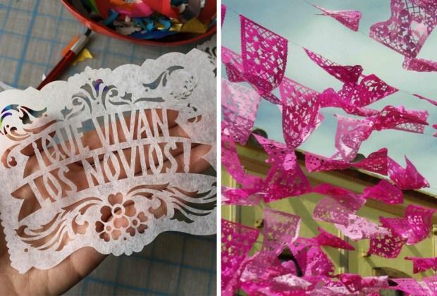 10 tips para decorar una boda con espíritu mexicano - boda-mexicana-papel-picado-1024x694