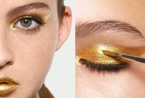 Los tonos metálicos en makeup serán lo máximo esta temporada de fiestas